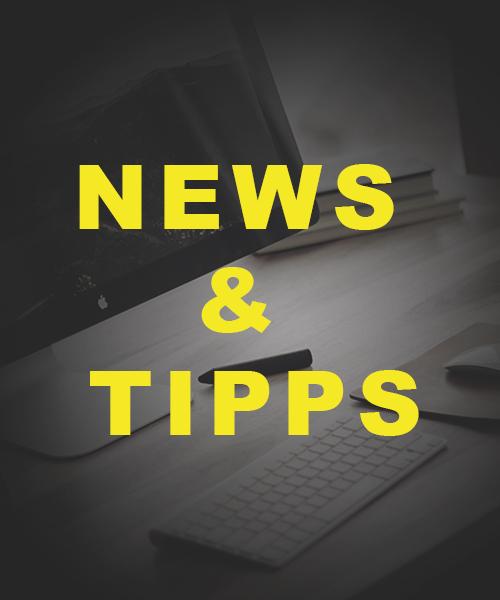Schrift News & Tipps vor Arbeitsplatz