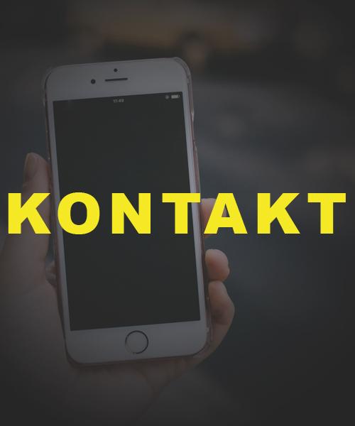 Schrift Kontakt vor Handy