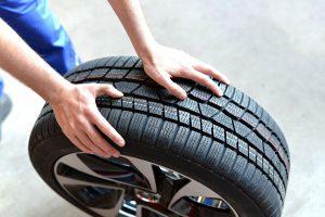 Ansicht eines Reifenprofils